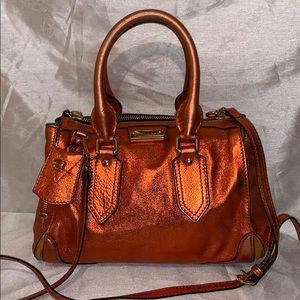 Burberry Prorsum Metallic tangerine Satchel Bag